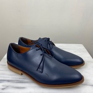 NEW Everlane Navy Blue Lace Up Modern Oxfords